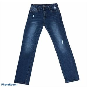 7 for all mankind distressed straight leg jeans